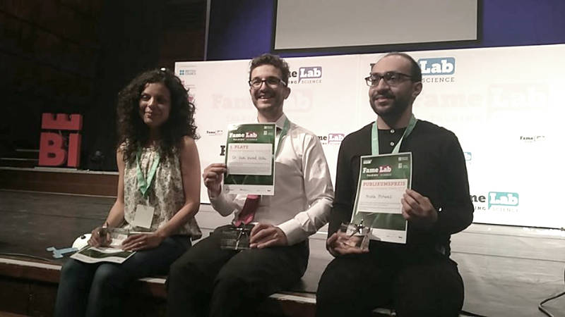 The winners of the FameLab Germany finals